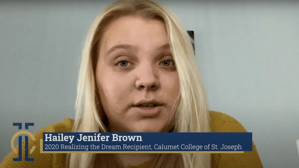 "Hailey Jenifer Brown, 2020 ""Realizing the Dream"" Recipient"